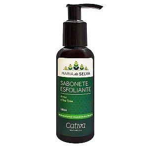 Sabonete Líquido Esfoliante Facial Maria da Selva Orgânico Natural Vegano 120ml - Cativa Natureza