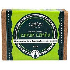Sabonete Vegetal Capim Limão Orgânico Natural Vegano - Cativa Natureza - 100g