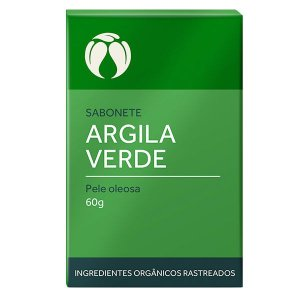 Sabonete Argila Verde para Pele Oleosa Orgânico Natural Vegano - Cativa Natureza - 60g