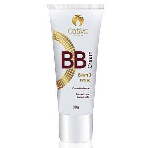 BB Cream 6 em 1 FPS 20 Orgânico Natural Vegano - Cativa Natureza - 30g