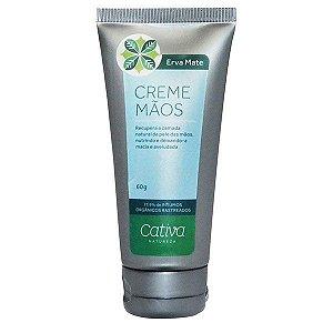 Creme para Mãos Erva Mate Orgânico com Cupuaçu, Alecrim e Chá Verde Orgânico Natural Vegano - Cativa Natureza