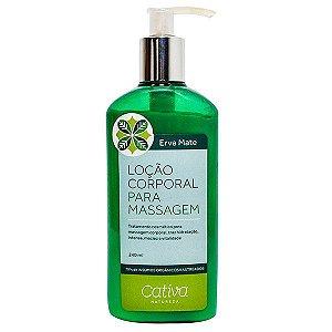 Loção para Massagem Corporal Erva Mate Orgânica Natural Vegana - Cativa Natureza