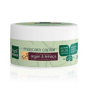 Máscara Capilar Natural e Vegana Argan com Linhaça 250 g - Boni