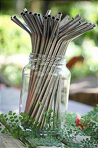 10 Canudos Aço Inox Curvado - Beegreen