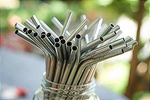 20 Canudos Aço Inox Curvado - Beegreen