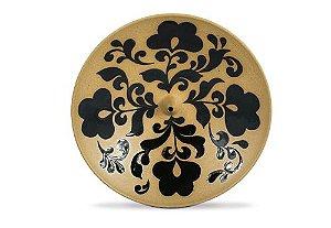 Incensário de Cerâmica em Floral - Preto - Inca aromas