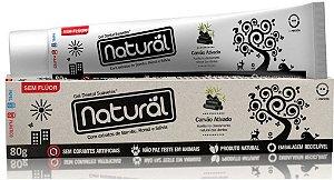 Creme Dental Natural Suavetex com Carvão Ativado, extratos de Bambu, Romã e Sálvia- Orgânico Natural