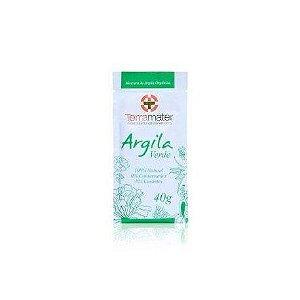 Argila Orgânica Verde Antioleosidade 40g -  Terramater