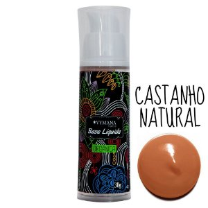 Base Líquida Orgânica 03 – Castanho Natural Vymana Make Up - 30mL