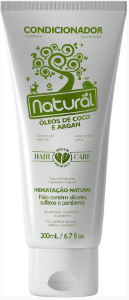 Condicionador Natural com Óleos de Coco e Argan 200mL- Orgânico Natural