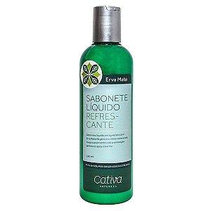 Sabonete Liquido Refrescante Erva Mate Orgânico Natural Vegano - Cativa Natureza