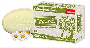 Sabonete Natural Suavetex com Extrato Orgânico de Camomila 80g- Orgânico Natural