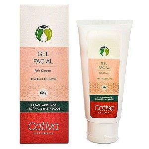 Gel Facial Pele Oleosa Orgânico Natural Vegano 60g - Cativa Natureza