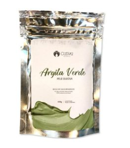 Mascara de Argila Verde Facial Natural Vegana - Cativa Natureza
