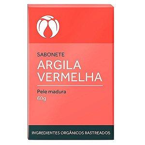 Sabonete de Argila Vermelha para Pele Madura Orgânico Natural Vegano - Cativa Natureza