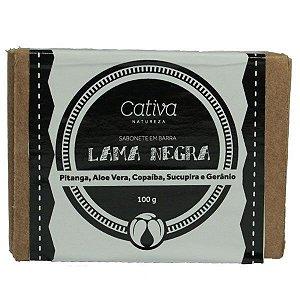 Sabonete Lama Negra em Barra Orgânico Natural Vegano - Cativa Natureza - 100g