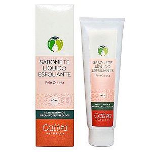 Sabonete Líquido Facial Esfoliante Pele Oleosa Orgânico Natural Vegano - Cativa Natureza