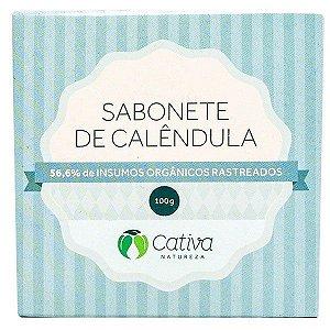 Sabonete Vegetal de Calêndula Natural Orgânico Vegano - Cativa Natureza - 100g