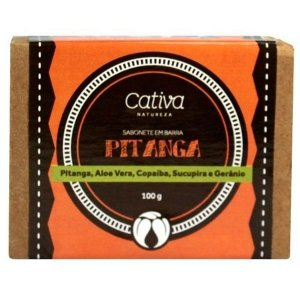 Sabonete Vegetal Pitanga Orgânico Natural Vegano - Cativa Natureza - 100g