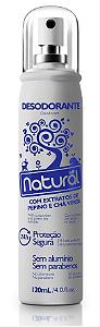 Desodorante Natural com Extratos de Pepino e Chá Verde 120mL- Orgânico Natural