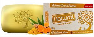 Sabonete Natural  com Extrato de Cúrcuma  80 gr - Orgânico Natural