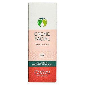 Creme Hidratante Facial Pele Oleosa  Natural Vegano - Cativa Natureza