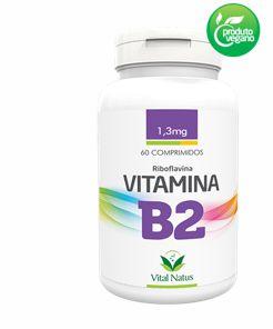 VITAMINA B2 1,3MG C/ 60 COMPRIMIDOS - VITAL NATUS