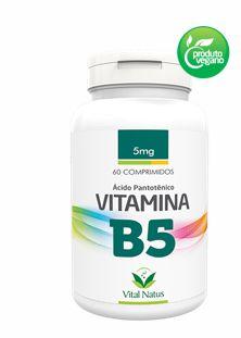 Vitamina B5 5mg C/ 60 Cápsulas - Vital Natus