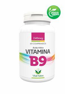 VITAMINA B9 240MCG C/ 60 COMPRIMIDOS - VITAL NATUS