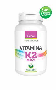 VITAMINA K2 MK-7 65MCG c/ 60 COMPRIMIDOS - VITAL NATUS