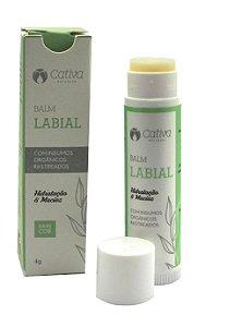 Balm Labial Orgânico Natural Vegano Sem Cor 4g - Cativa Natureza
