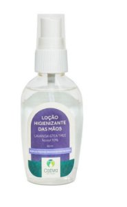 Loção Higienizante Lavanda e Tea Tree Natural Organica Vegana 60ml - Cativa Natureza