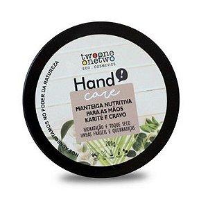 Manteiga Nutritiva para Mãos Karité e Cravo Vegana  - Twoone Onetwo