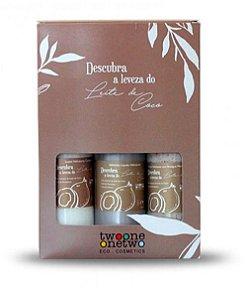 Kit Tropical Beauty Leite de Côco Loção, Esfoliante, Sabonete Líquido 120ml -  Twoone Onetwo