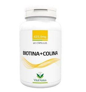 Biotina + Colina 625,5mg com 60 Cápsulas - Vital Natus