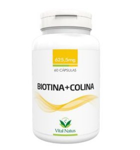 BIOTINA E COLINA 625,5MG C/ 60 CAPSULAS - VITAL NATUS