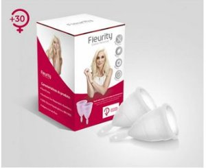 kit Coletor Menstrual Tipo 1 Sem Pigmentação (2 Unidades) - Fleurity