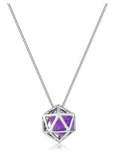 Difusor Pessoal Em Prata 925 Com Banho De Ródio - Modelo Icosaedro - Divico Joias Terapêuticas