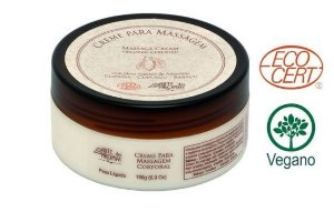Creme de  massagem  Orgânico 196g   - Arte dos Aromas
