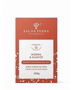 Condicionador Sólido Henna & Karité - Sal da Terra