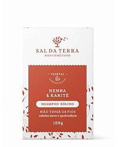 Shampoo Sólido Henna & Karité - Sal da Terra