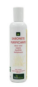 Sabonete Purificante Natural e Vegano 200mL -  Livealoe