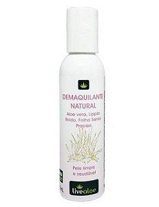 Demaquilante Natural com Aloe Vera Orgânica 120mL - Livealoe