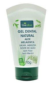 Gel Dental Natural Aloe Melaleuca - Livealoe