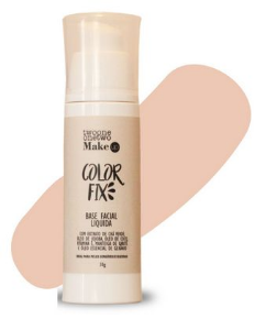 Base Facial Líquida Color Fix Vegana e Natural Cor 02 Rose Beige - Twoone Onetwo