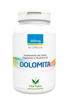 DOLOMITA 600MG PT C/ 60 CÁPSULAS - VITAL NATUS