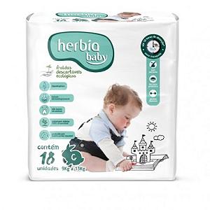 Fralda Ecológica Descartável Tam G Herbia Baby 18 uni - Herbia