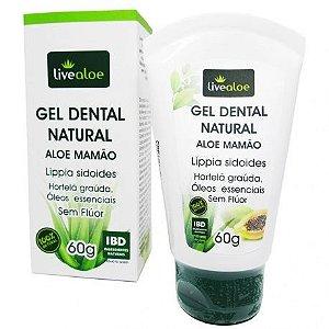 Gel Dental Natural e Vegano Aloe e Mamão -  Livealoe