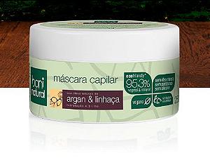 Máscara De Argan & Linhaça, 95,30% Vegetal & Mineral, 250g - Boni