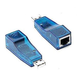 Conversor Adaptador USB 2.0 para RJ45 Fêmea (REDE ETHERNET), EXBOM UL-100